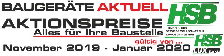 Baugeräte AKTUELL – Aktionspreise