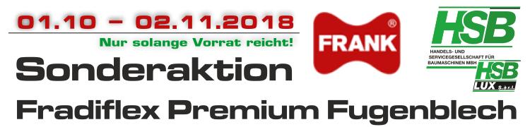 Fradiflex Premium Fugenblech – Sonderaktion