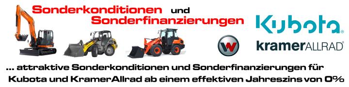 Sonderkonditionen /-Finanzierung für Kubota und KramerAllrad