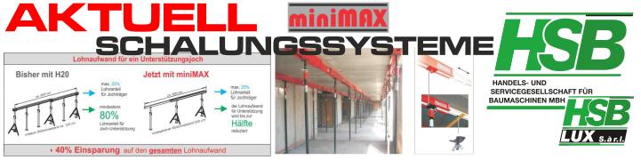 Aktuell / miniMAX Filigrandeckenunterstützung