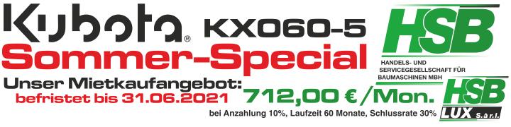 KUBOTA KX060-5 Sommer-Special