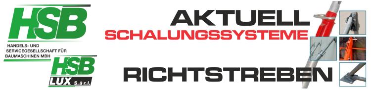 SCHALUNGSSYSTEME AKTUELL / Richtstreben