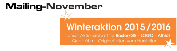 Winteraktion 2015/2015 – Aktionsrabatt für Raster/GE – LOGO – Athlet