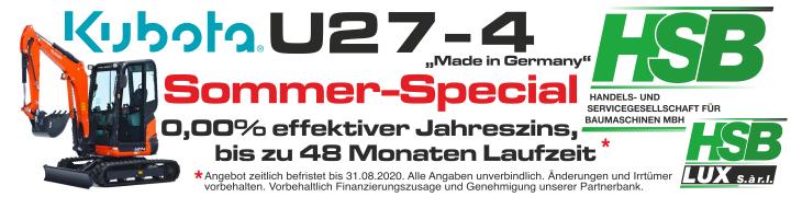 Kubota U27-4 Sommer-Special