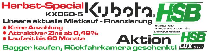 KUBOTA KX060-5 / Herbst-Special