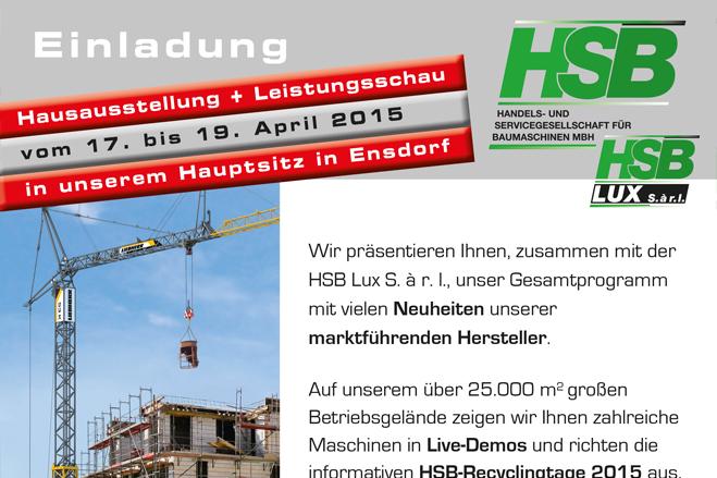 Einladung Hausausstellung 2015 / Ensdorf